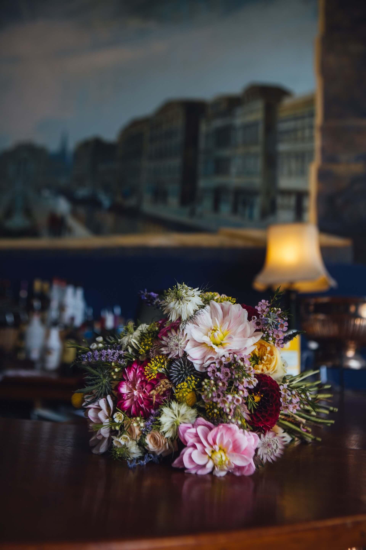 wildflower, bridal, bouquet