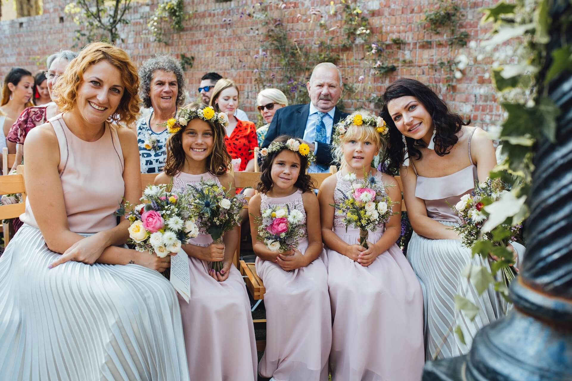 bridesmaid ,bouquet, flower, crowns